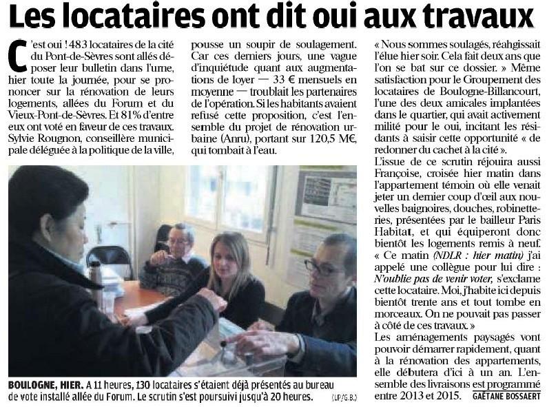 110211 Le Parisien - Les locataires ont dit oui aux travaux2