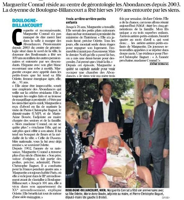 Marguerite a 109 ans