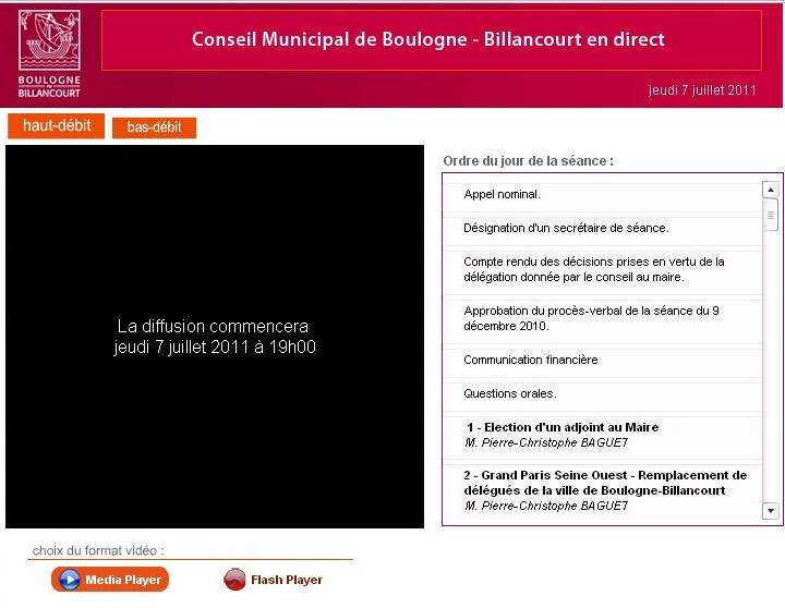 Conseil municipal070711