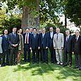 Avec Luc Châtel et des collègues députés, mardi 5 juillet 2011