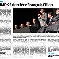 Le Parisien - L'UMP 92 derrière François Fillon