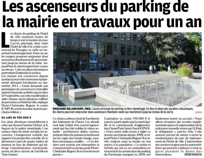 120920 Le Parisien - Chantier parking
