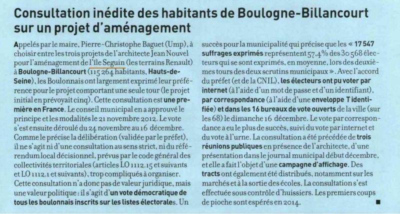 Lettre du Maire - Consultation inédite des habitants de BB
