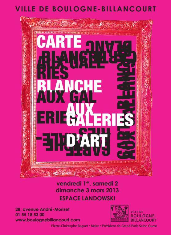 Carte blanche galeries d'art