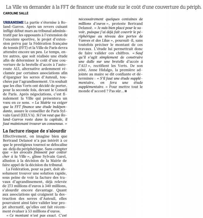 130326 Le Figaro - NOuveau set pour Roland Garros