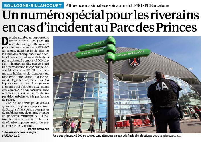 130402 Le Parisien - PSG-Barça