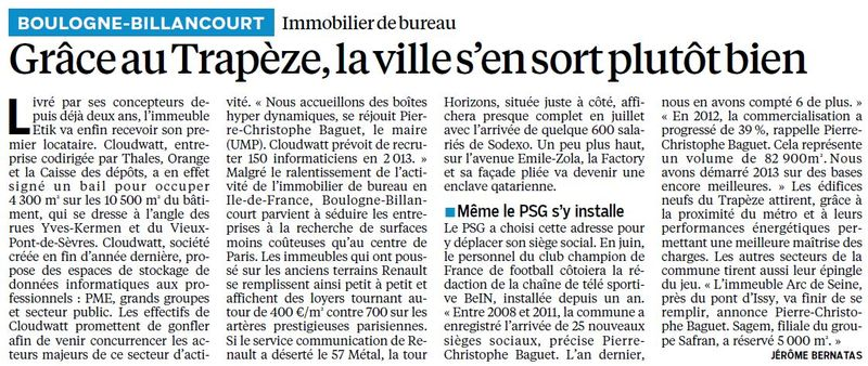 130521 Le Parisien - bureaux Trapèze