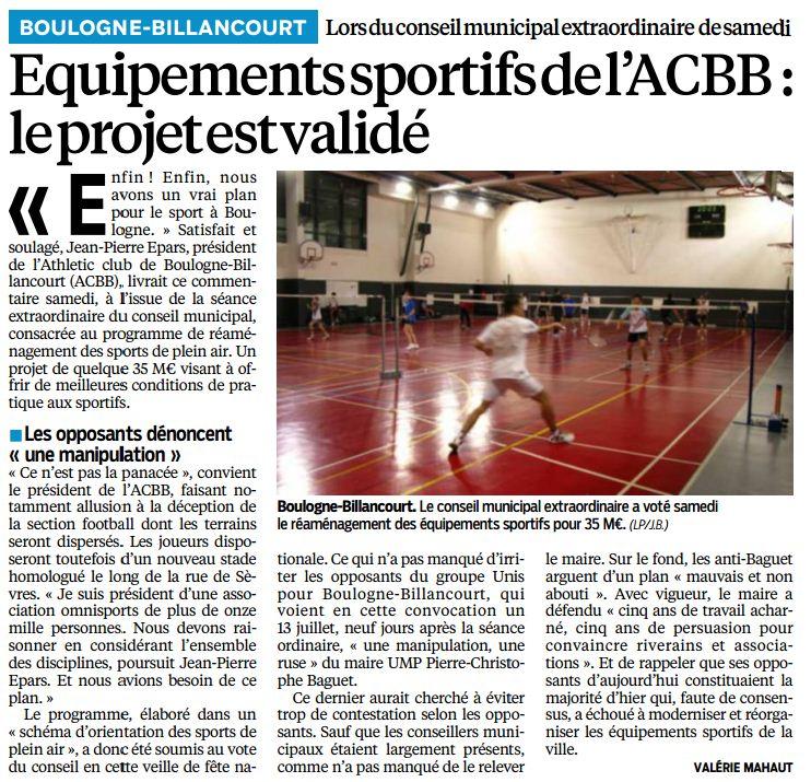 130715 Le Parisien - Sport