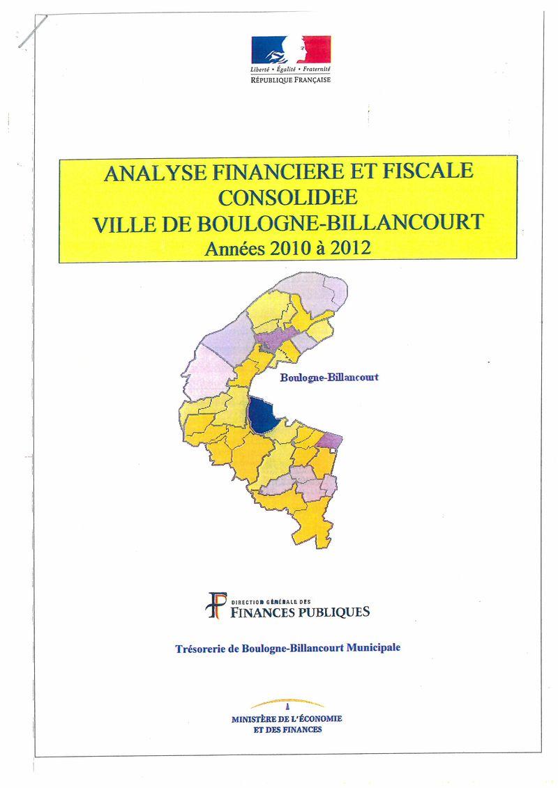 130901 Analyse financière Trésorerie municipale 2010 à 2012 (1)