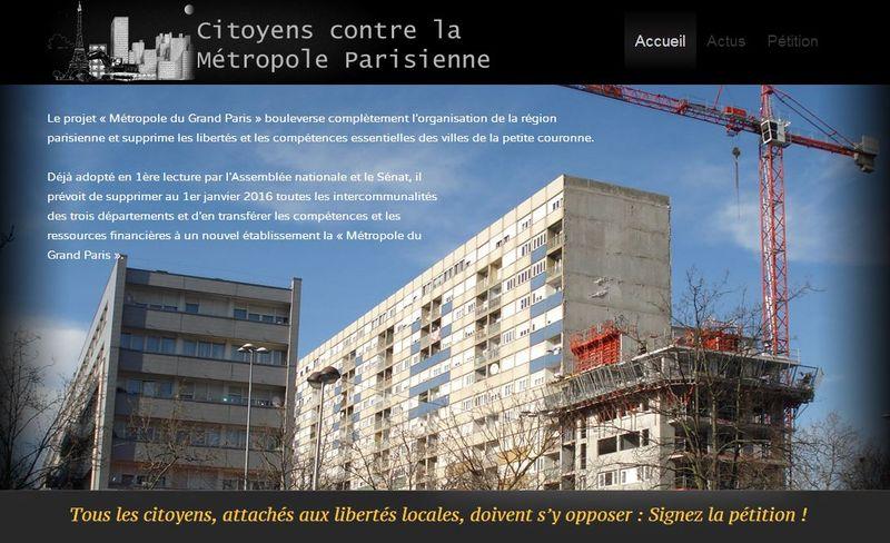 Citoyens contre métropole parisienne